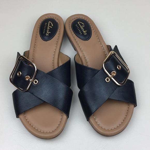 18c54519a4804b Clarks Shoes - CLARKS Artisan Viveca Gwen Black Leather Sandals